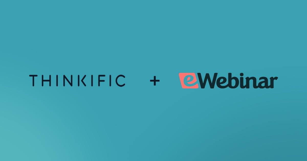 eWebinar and Thinkific announce partnership