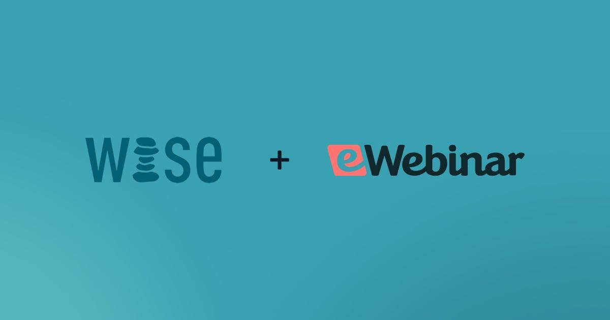eWebinar announces partnership with WISE Accelerator