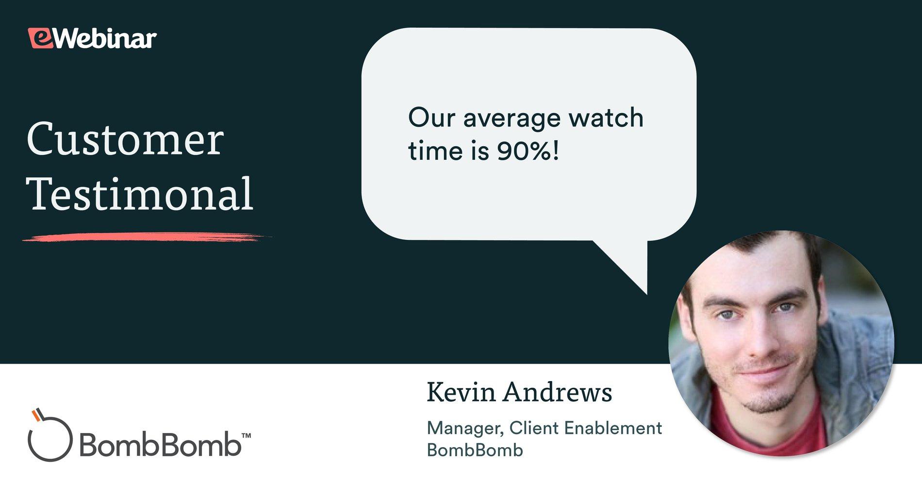 Increasing webinar watch time from 70% to 90% with eWebinar