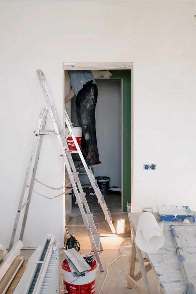 Professional Fire Restoration Worker