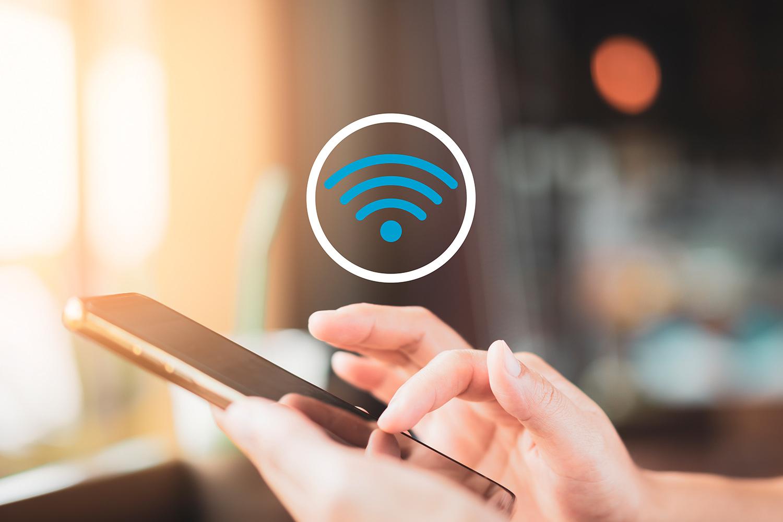 Accesando a WiFi público desde un teléfono