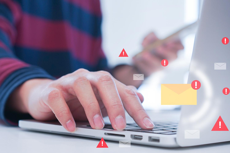 Uno de los mayores lugares de contagio de malware como el spyware es a través del correo electrónico infectado