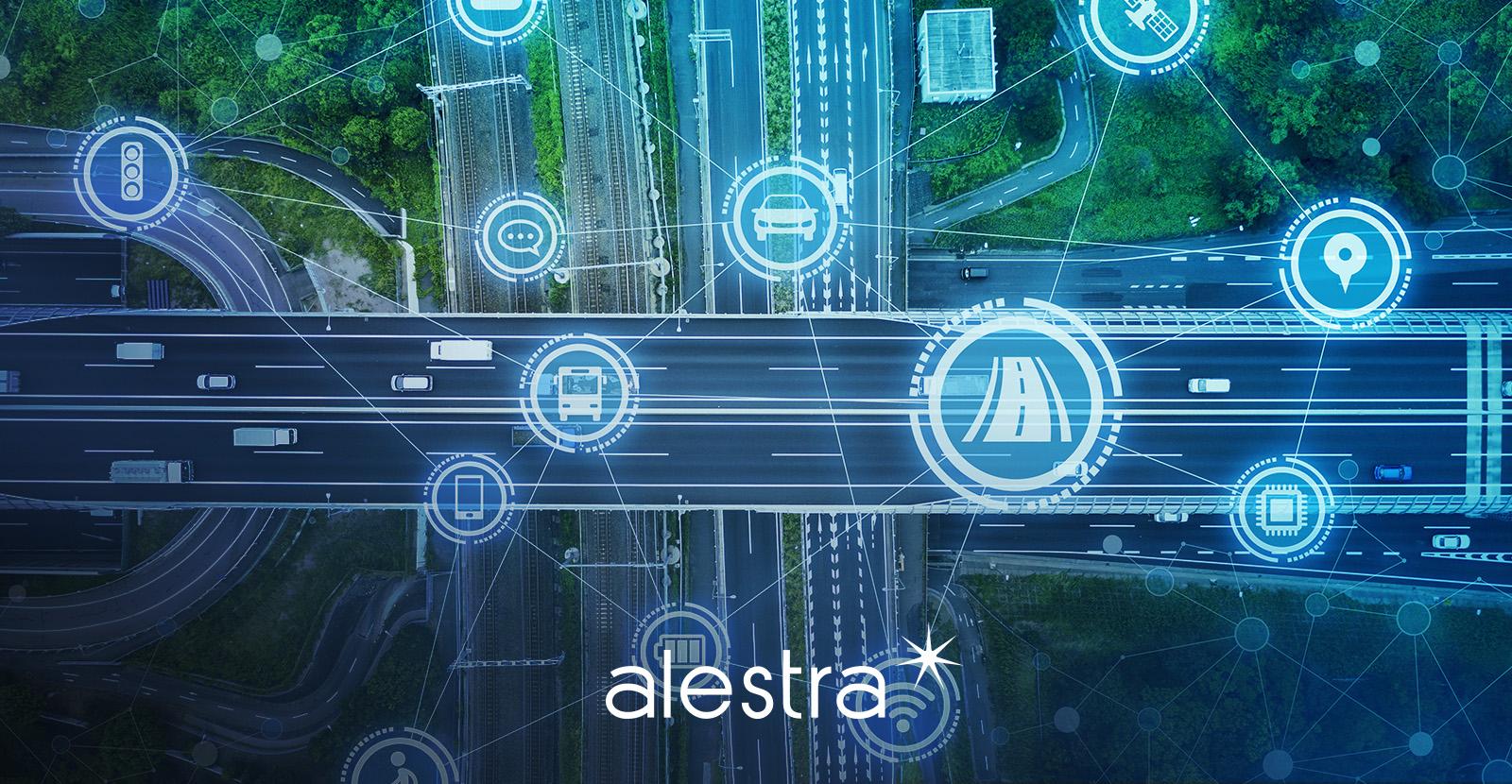 Representación gráfica de una autopista controlada digitalmente.