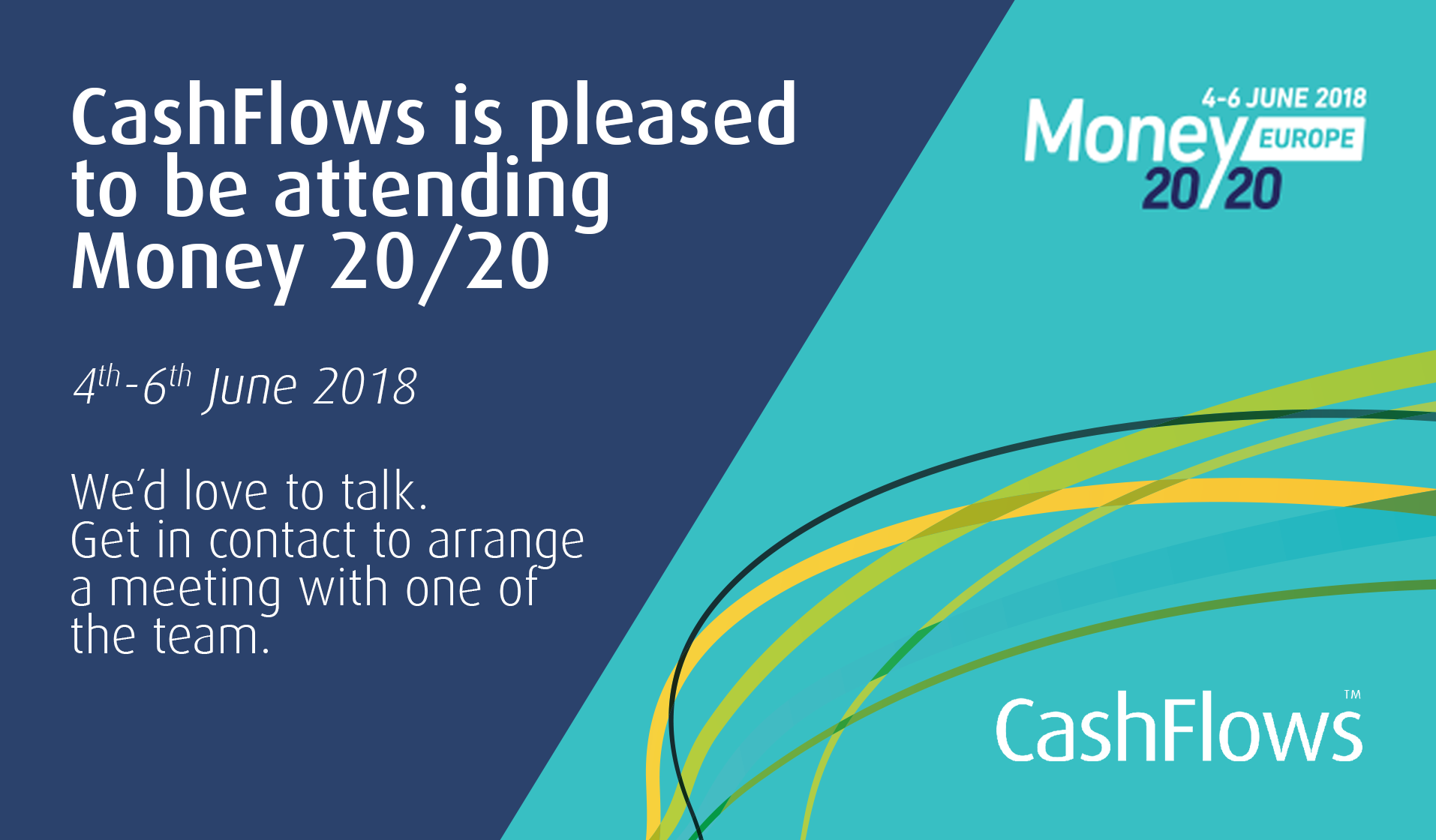 CashFlows: pleased to be attending Money 20/20