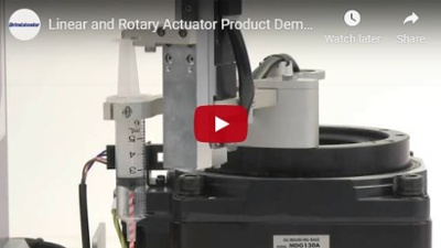 Rotary actuator & compact linear actuator syringe dispensing demo