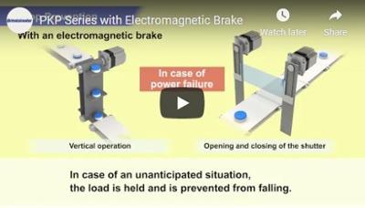 PKP series stepper motors with electromagnetic brake demo