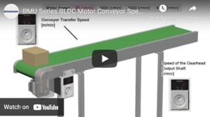 Brushless motor video: simple speed control for conveyors