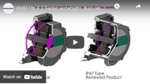 IP67 watertight, dust-resistant connector type brushless motors video
