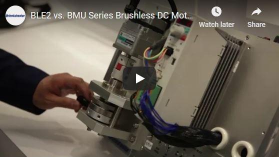 BLE2/BMU Series brushless motors conveyor demo by Oriental Motor's engineering manager