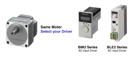 BMU/BLE2 same motor, different drivers