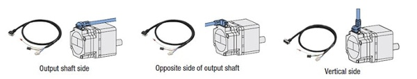 Brushless motor connector cable orientation