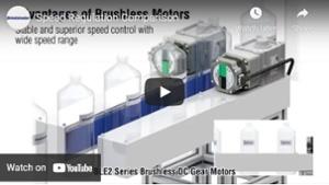 Brushless motor video: speed regulation on dual belt conveyor