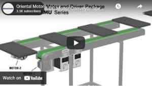 Brushless motor video: speed synchronization on dual belt conveyor