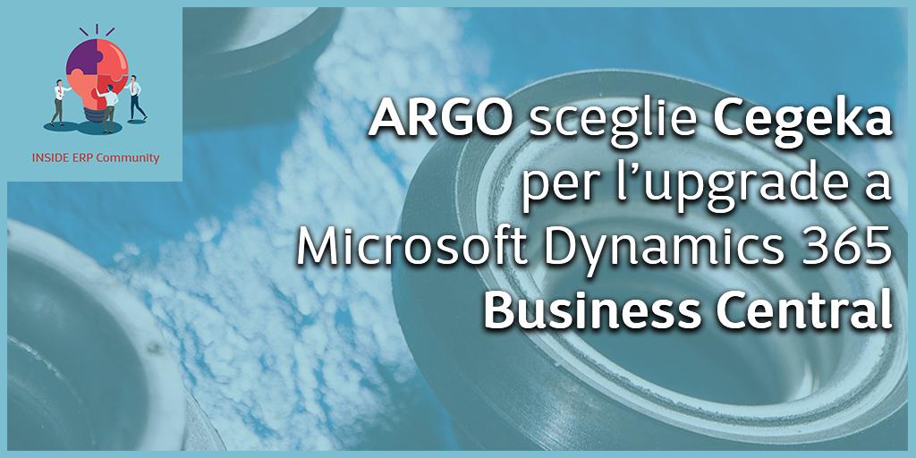 ARGO sceglie Cegeka per l'upgrade a MS Dynamics 365 Business Central