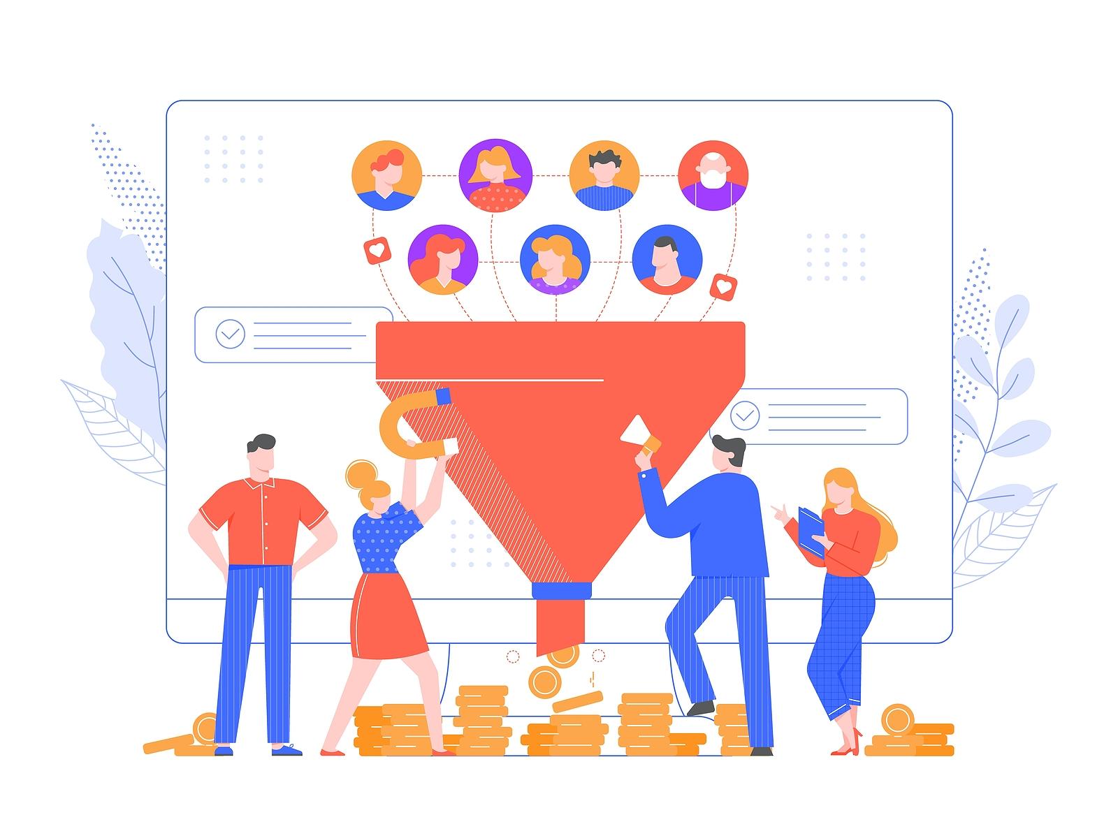 sales funnel and digital marketing lead generation
