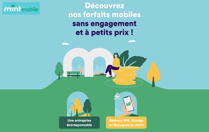 Mint Mobile, les forfaits écoresponsables sur le réseau Bouygues