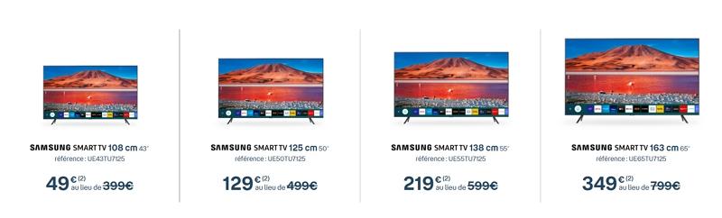 Les télé Samsung à partir de 49 euros avec l'offre Bbox Smart TV