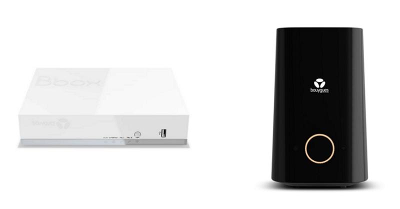 Le modem blanc Bouygues et la Bbox Wi-Fi 6