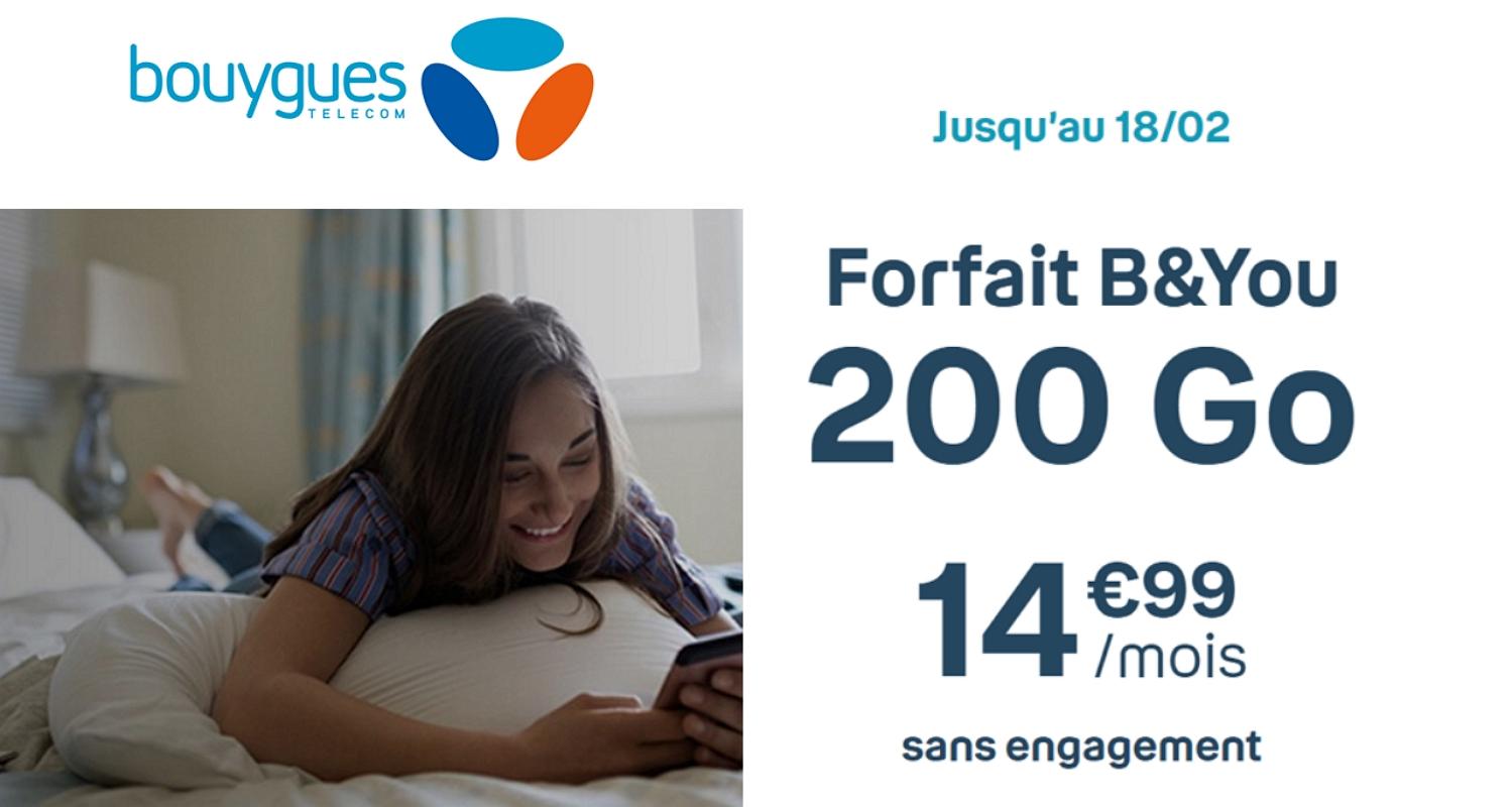 Forfait Bouygues 200 Go à 14,99€/mois : plus que quelques heures pour en profiter