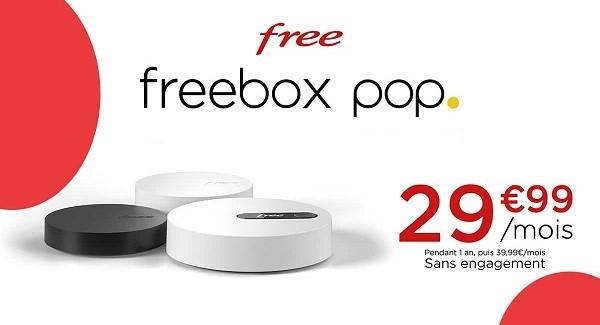 La Freebox Pop est au tarif attractif de 29,99€/mois