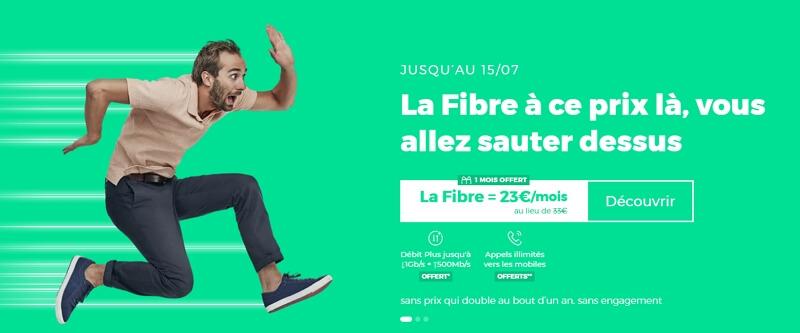 L'offre fibre RED en juillet 2020 : débit jusqu'à 1 Gb/s et appels vers les mobiles offerts