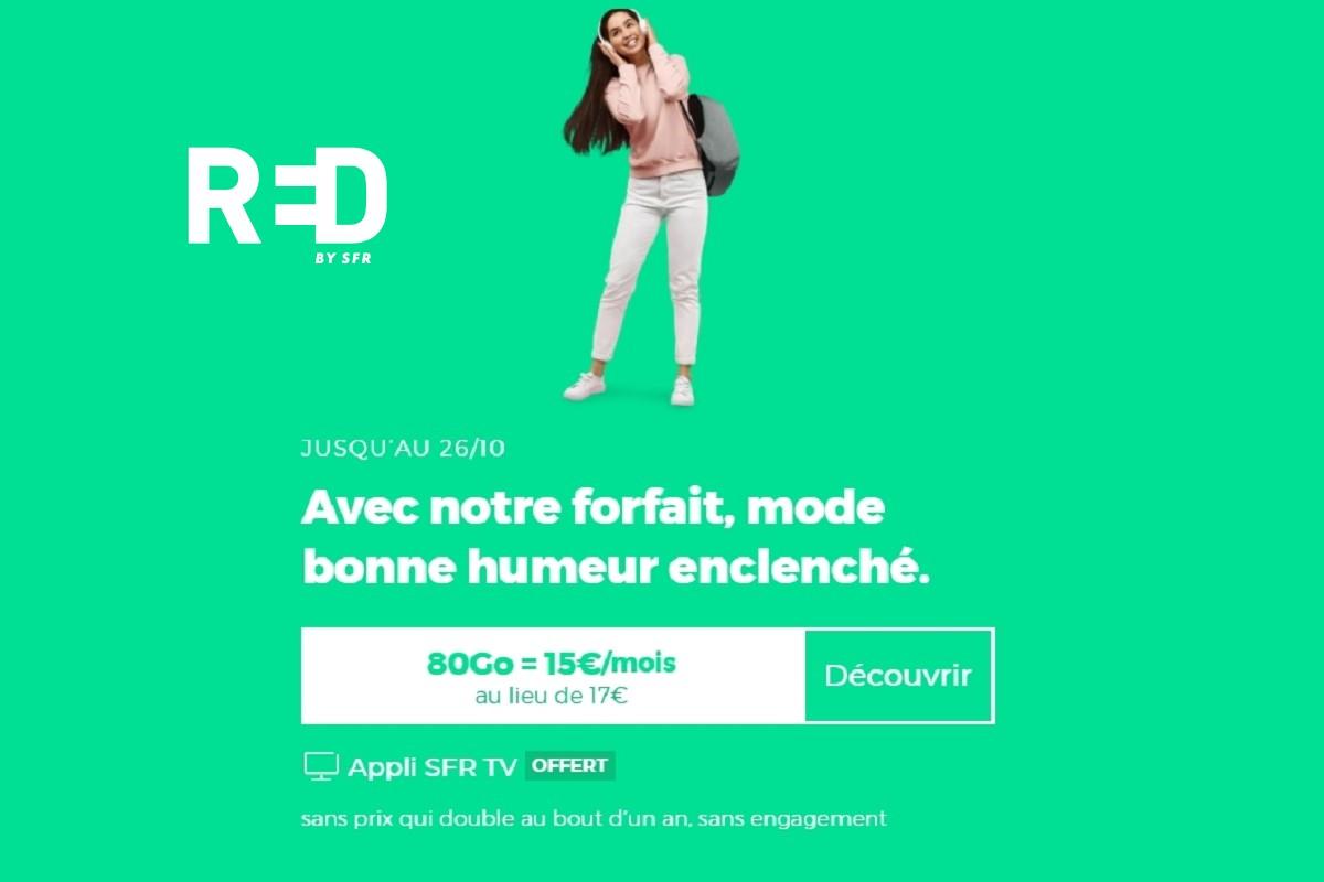 Un euro de plus pour le forfait RED 80 Go