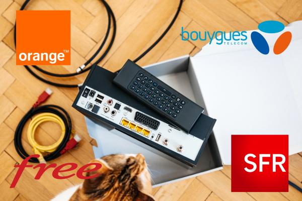 Bouygues Telecom, SFR, Orange et Free sont les 4 grands opérateurs français.