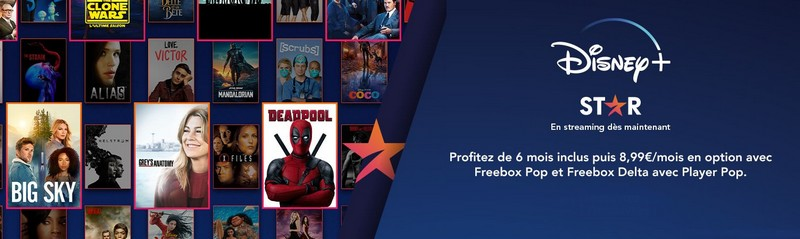 Disney+ offert pendant 6 mois chez Free