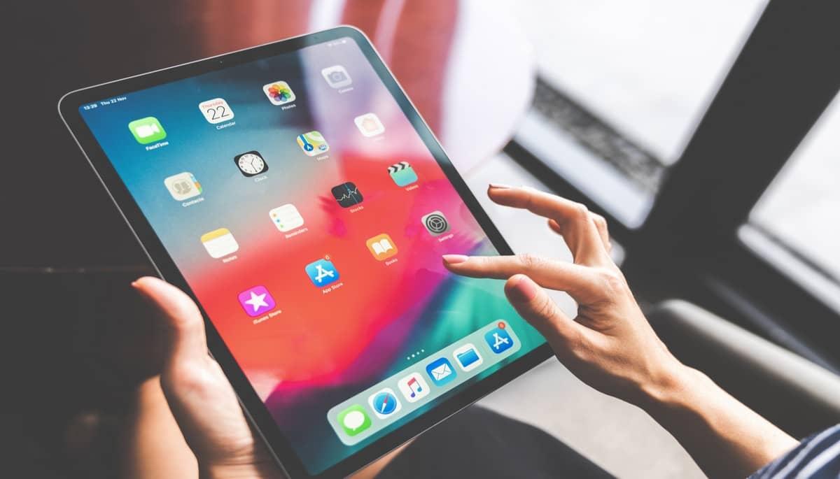 Un iPad connecté en Wifi à une box