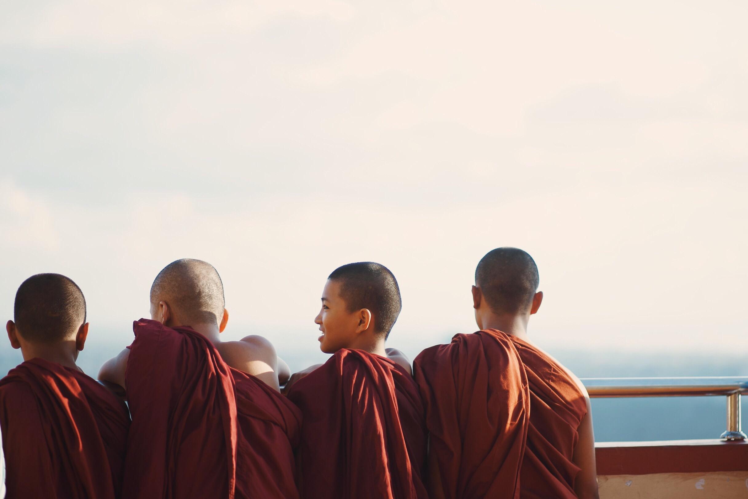 Buddhist children laughing