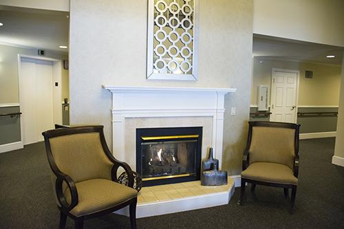 Care Suites Edina Fireplace Sitting Area