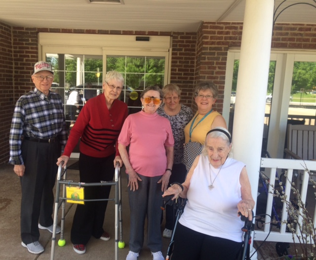 Residents Outside Posing for Photo