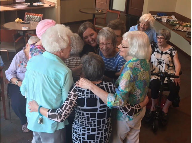 Westwood Ridge residents in a circle