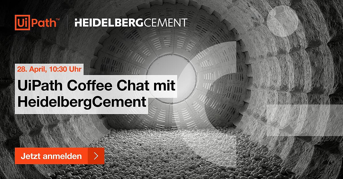 UiPath Coffee Chat mit HeidelbergCement