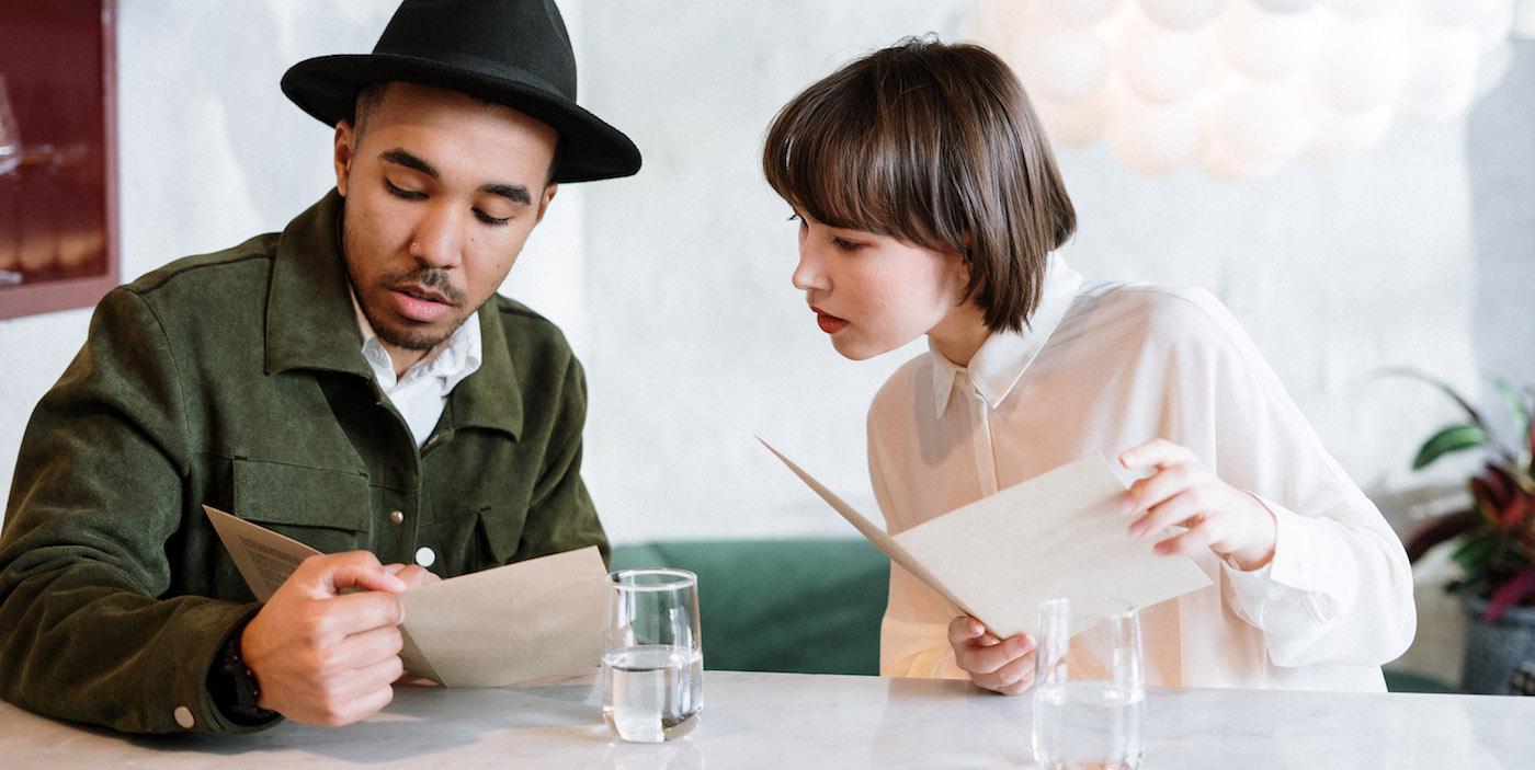 customers browsing the menu