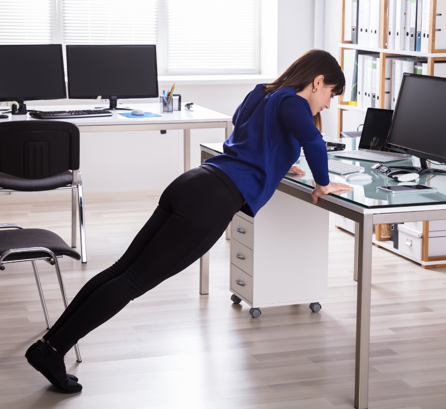 Staying healthy while sitting at a desk