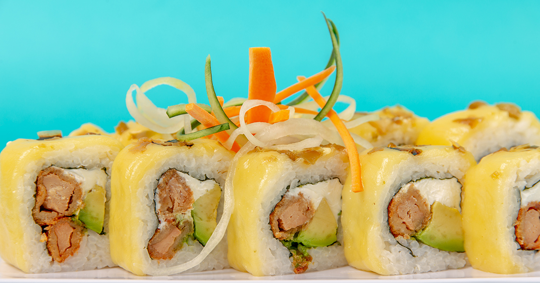fotografia de alimento sushi