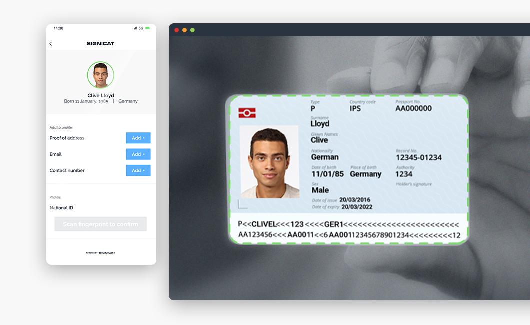Passport identity scan