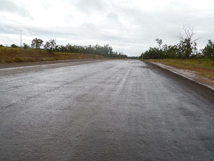 Mining efficiency and productivity can be drawn to a sudden halt, during and after wet weather, due to haul roads becoming saturated with water.