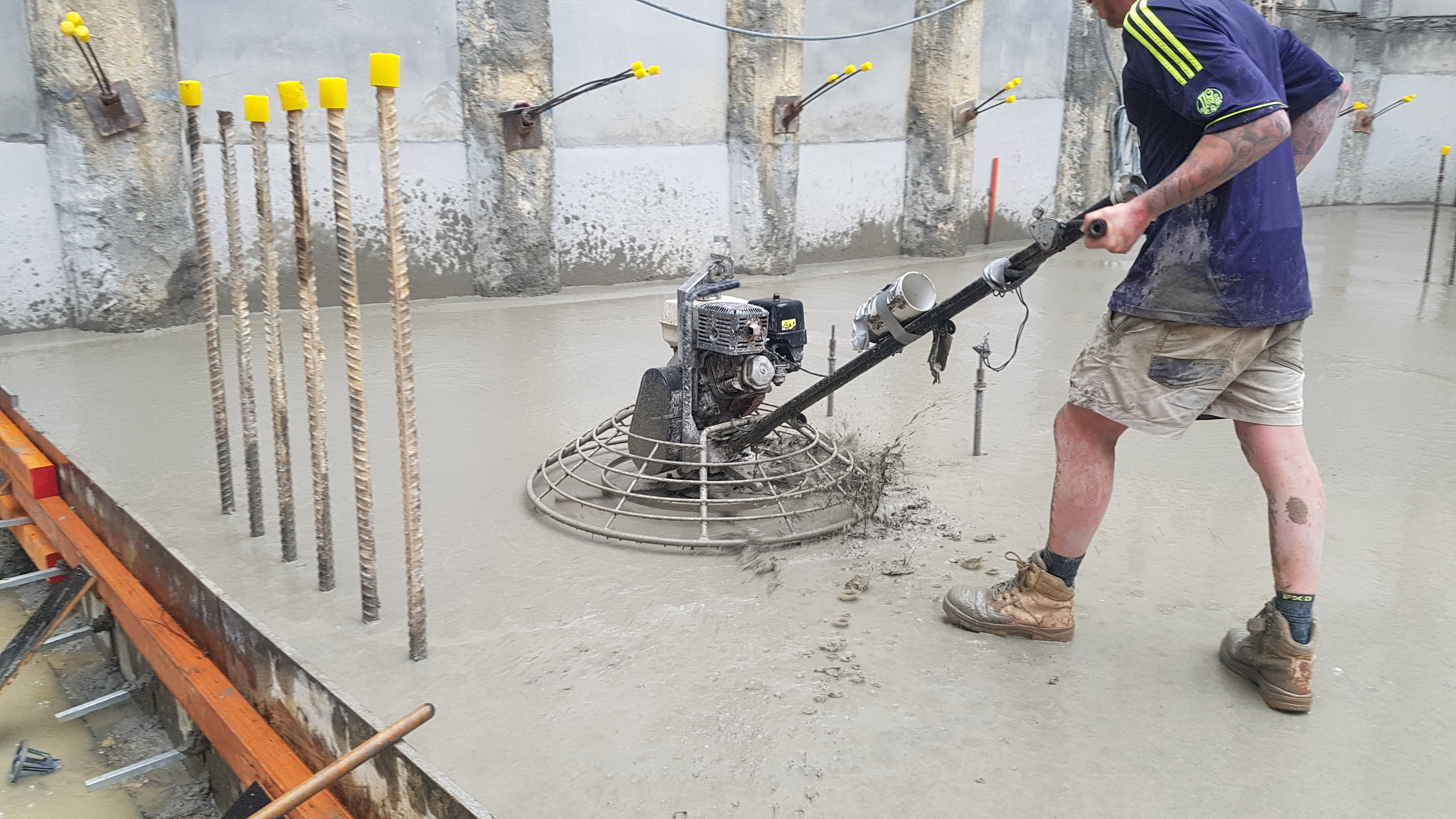 Rain whilst your concrete is being placed or finished can lead to excessive bleed water.
