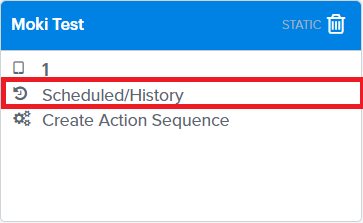 Device Groups Action History