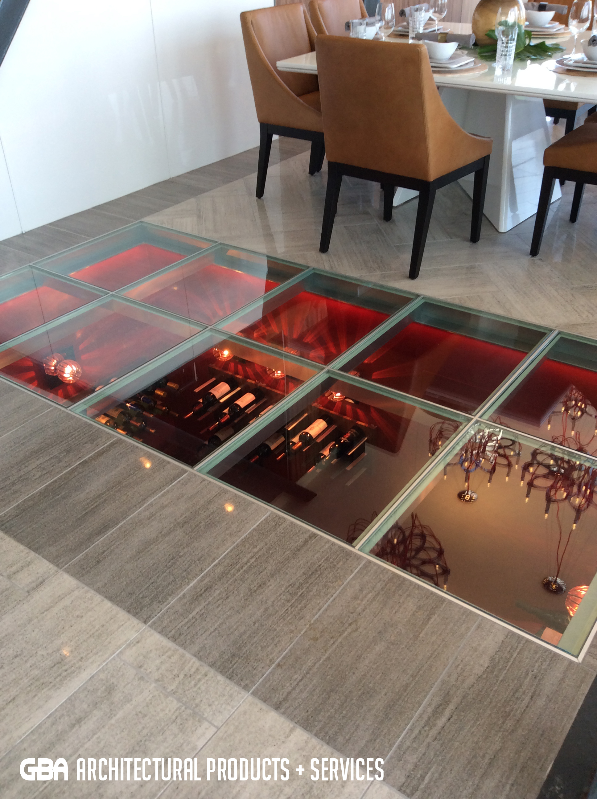 Glass Floor in Fayetteville Condo