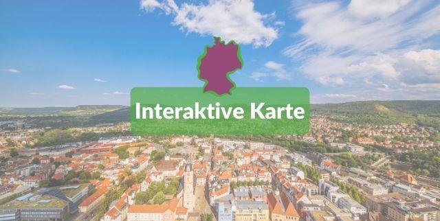 Das Zukunftspotenzial in Deutschland: alle Städte und Kreise in der Bewertungsübersich mit interaktiver Karte