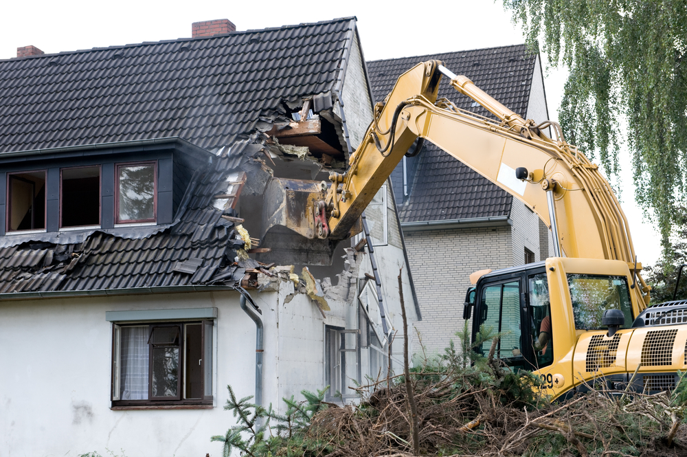 House being bulldozed