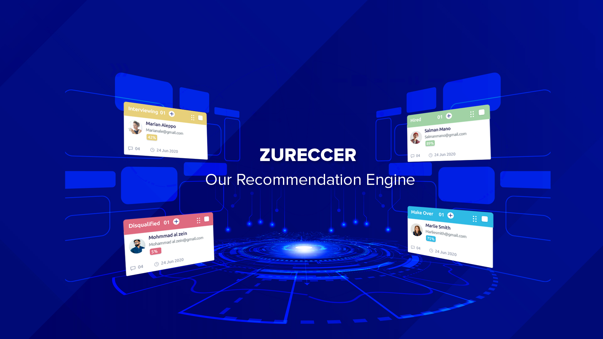 Picture of Zureccer, an engine that recommends Coursera and Udemy courses.