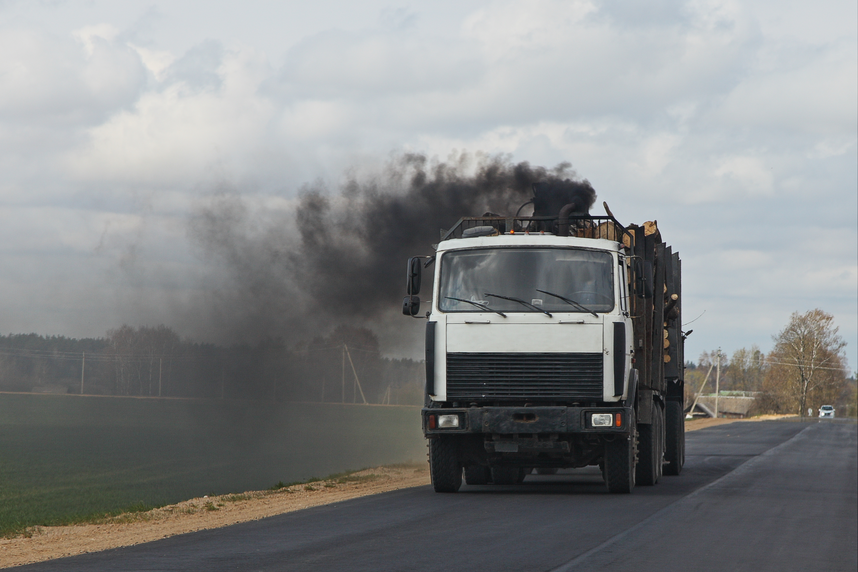 Diesel-Truck-Blowing-Black-Smoke-From-Exhaust