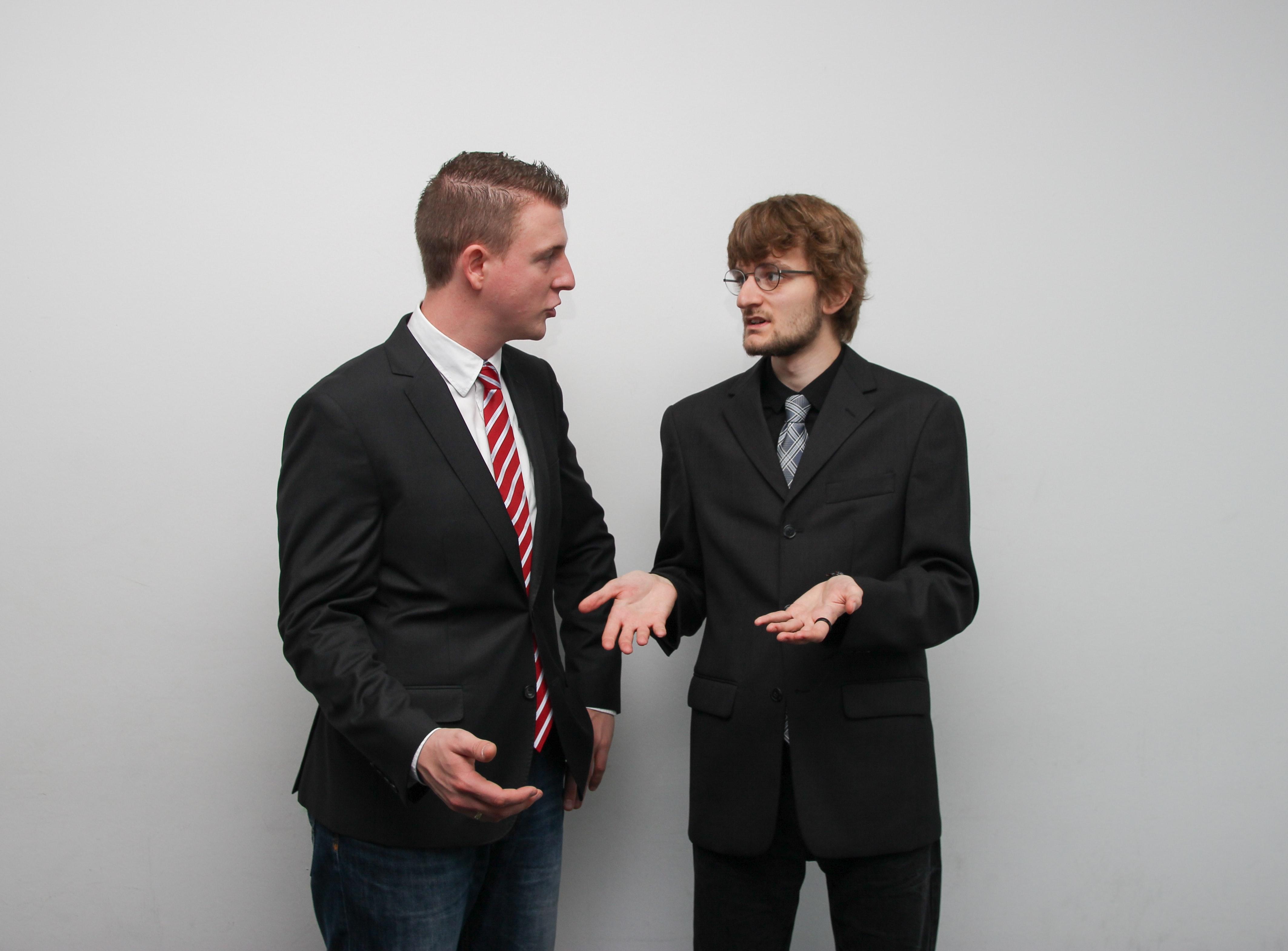 Two men arguing
