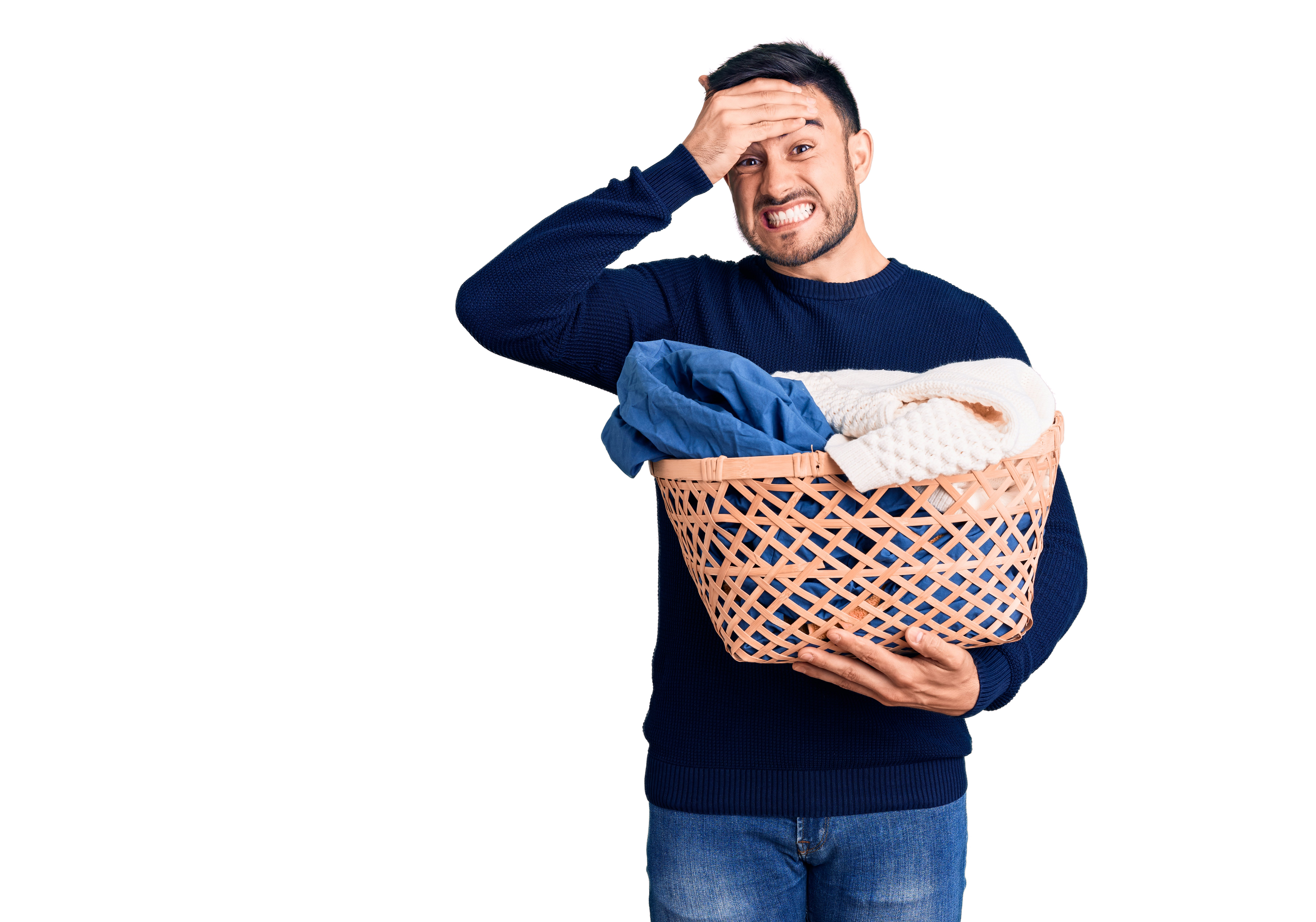 Man with laundry