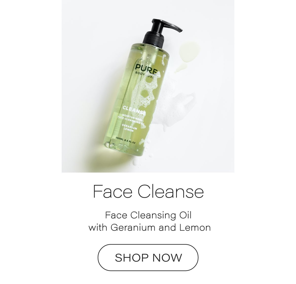 Pure Body Luxe Face Cleansing Oil